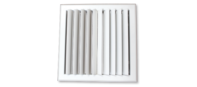 Curved Linear Diffuser : Curved blade diffusers polyaire commercial air